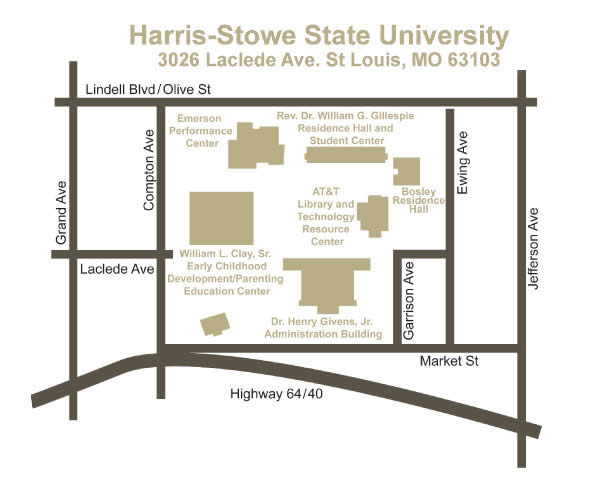Harris Stowe State University Hssu Campus Map Directions